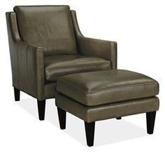 Abbott Leather Chair & Ottoman - Chairs - Living - Room & Board