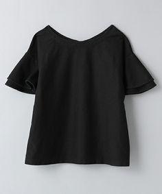JEANASIS(ジーナシス)の【先行予約】デニムフリルプルオーバーSS/566524(Tシャツ/カットソー)|ブラック
