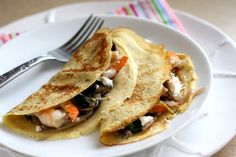 Savory Crepes with Shrimp, Mushrooms, & Goat Cheese - Perry's Plate