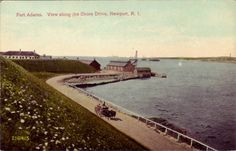 View of Fort Adams, circa 1910. Fort Adams in Newport, RI, was established July 4, 1799. After the War of 1812, a review of the nation's forts determined it necessary to replace Fort Adams with a larger fort. Construction of the new fort began in 1824 and continued until 1857. The fort was in use from 1841 through 1950. In 1965, the fort became a state park and in 1994 the Fort Adams Trust was founded to maintain and offer tours of the fort. Discover more history @ www.thehistorygirl.com