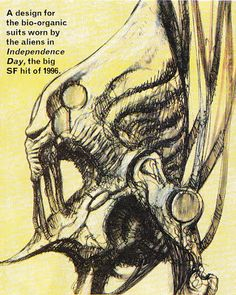 """The """"Independence Day"""" biomechanical suit ~ alienex plorations Indipendence Day, Giger Alien, Aliens Movie, Monster Design, Halloween 2016, Science Fiction Art, Sci Fi Art, Creature Design, Concept Art"""