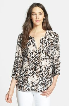 Joie 'Coralee' Print Silk Blouse available at #Nordstrom