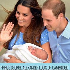 The royal family with their sweet, little prince!