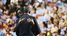 The hug that can win the Presidency one more time. President Barack Obama and first lady Michelle Obama hug on stage during the final session of the Democratic National Convention in Charlotte, North Carolina September REUTERS/Philip Scott Andrews