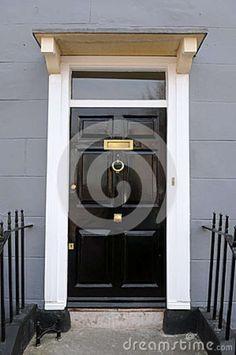 english country manor front door | Black Front Door of a Beautiful Georgian Era London Town House