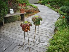 ReBirds  Plant Stands   This is ,so freakin cute. I need this