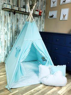 KiziaMizia - BlueKitty Namiot tipi wigwam; Namiot indiański + mata + 3 poduszki - różne warianty, zestawy Toddler Bed, Trending Outfits, Handmade Gifts, Dogs, Etsy, Furniture, Home Decor, Child Bed, Kid Craft Gifts