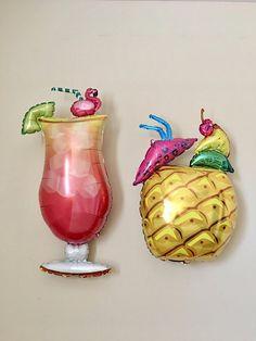 Tropical Drink Balloon~Pineapple Balloon~Palm Springs~Bachelorette Party~Flamingo~Luau Decor~Summer Party Drinks~Beach Party~Tropical Drink