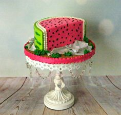 Watermelon Slice Watermelon Slice *All Buttercream #top-cakes #watermelon #cakecentral