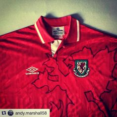#Repost 1992-94 Wales home shirt from @andy.marshall58 Sorted for the #euros. #wales 1992-1994. #retro #footballshirt #footballshirtcollective #togetherstronger #umbro #umbrofootball #walesfootball