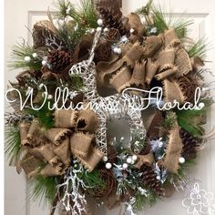 antler wreath wreath burlap diy wreath wreath ideas rustic wreaths ribbon wreaths christmas swags christmas gift decorations christmas mesh wreaths