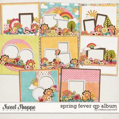 Sweet Shoppe Designs::Quick Pages & Albums::Spring Fever QP Album by Melissa Bennett