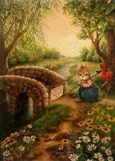 Susan Wheeler by Maria del Socorro pinzon 📬 Susan Wheeler, Beatrix Potter, Bunny Art, Woodland Creatures, Whimsical Art, Cute Illustration, Cute Art, Vintage Art, Illustrators