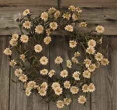 tea staind daisy wreath
