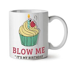 Blow A Candle Birthday Time White Tea Coffee Ceramic Mug 11 oz   Wellcoda ** For more information, visit image link.