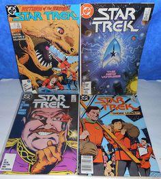 Comic Book Vintage 4 DC STAR TREK 37 4/'87, 43 10/'87, 46 1/'88, 39 6/'87  C43A7
