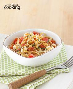 Creamy Basil & Tomato Pasta #recipe