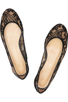 """The last pinner said: """"ROSAMOSARIO  Lace ballet flats"""" - These are really pretty, I think they'd also likely be incredibly 'comfy' (might slip off easy though, and looks like they might need an insert for arch support.)"""