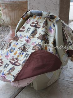 Made to Order  Infant Car Seat Canopy / Tent with by babybeetrendy, $25.99