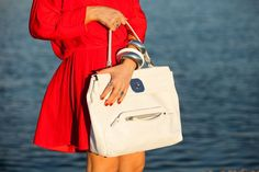 woman in red, Melina Georgiadou,red dress, longchamp, Gatsby