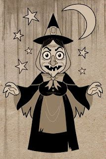 Old Witchy! Fun Halloween Art