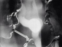 Jeanne Moreau et Francois Truffaut.