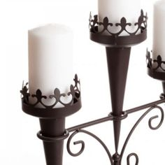 Medieval Triple Candle Stand [14114 Triple Candle Stand] : Wholesale Wedding Supplies, Discount Wedding Favors, Party Favors, and Bulk Event Supplies