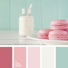 Нежная палитра строится на гармоничном сочетании пудрового оттенка и более насыщенных оттенков розового, которые подчеркиваются молочным и бирюзовым цветом. Такая цветовая гамма выглядит изысканно и оригинально, прекрасно подойдет для оформления комнаты молодой девушки, а также освежит повседневный образ в городском стиле.