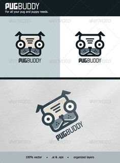 PugBuddy Logo #GraphicRiver PugBuddy – For all your pug and puppy needs. - 100% vector (editable & resizable). - Contains both AI and EPS files. - CMYK - Organized layers. - The fonts used are Aldo the Apache and Forgotten Futurist. Enjoy and don't forget to rate! Created: 11 December 13 Graphics Files Included: Vector EPS #AI Illustrator Layered: No Minimum Adobe CS Version: CS5 Resolution: Resizable Tags Canidae #adorable #canine #cartoon #character #cool #cute #dog #emblem #illustration…