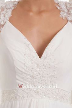 Front close-up: http://www.weddingdresstrend.com/en/a-line-v-neck-ruched-wedding-dress.html