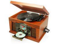 Nostalginen musiikkikeskus Ricatech RMC250 6in1 (LP, CD, MP3, CASETTE) - Konerauta.fi
