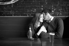 Indoor Engagement Session Photos by Natalie Probst Photography