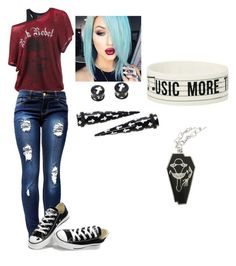 """""""untitled"""" by jodiegarner ❤ liked on Polyvore featuring Converse"""