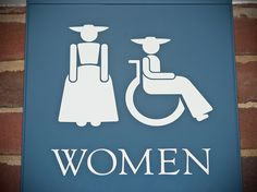 restroom sign; Colonial Williamsburg