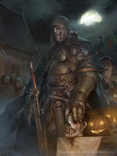 Artist: Stepan Alekseev aka chosac - Title: Living Debt reg - Card: Headhunting Devil Folsius