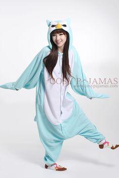 1db6367fba Animal Costumes Owl Adult Onesie Kigurumi-Polyester Mesh Onesie Pajamas