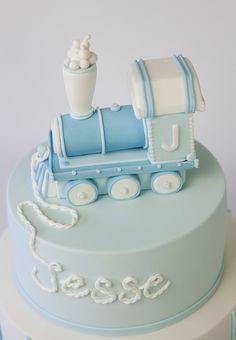 sweet tiers - christening - christening cake - train cake