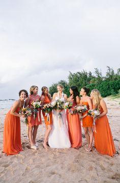 Hawaiian destination wedding captured by @pinkyyoshimoto
