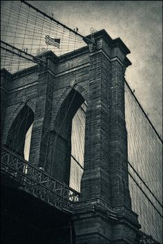 Brooklyn Bridge Fine Art Photography Black by LarryNicosiaPhoto, $39.00