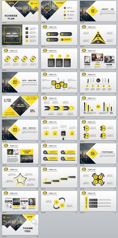 28+ Best yellow lowpoly business PowerPoint template on Behance