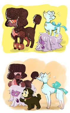 Steven universe gems as dogs X3