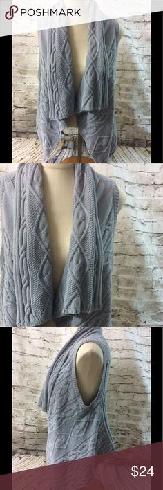 J. Jill Cardigan Open Front Cable Knit Gorgeous J.Jill open front Cardigan in gray size small. In great condition, no issues. J.Jill Sweaters Cardigans