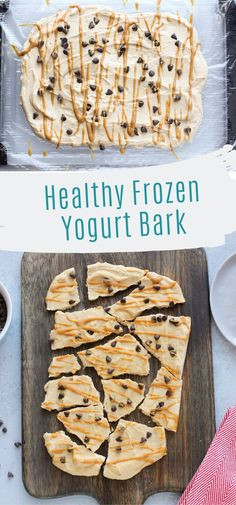This chocolate peanut butter yogurt bark is an easy, healthy dessert! You can store it in the freezer and grab a piece when you need a sweet treat! If you need a high protein treat, this is the best dessert! Healthy Sweet Snacks, Healthy Dessert Recipes, Healthy Desserts, Easy Desserts, Snack Recipes, Peanut Butter Healthy Snacks, Healthy Foods, Chocolate Frozen Yogurt, Healthy Frozen Yogurt