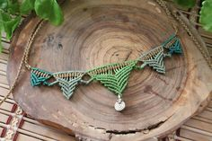 Etsy の Ethnic necklace macrame by ArtesaniaLuarna Macrame Necklace, Turquoise Necklace, Handmade Necklaces, Handmade Gifts, Boho, Unique Jewelry, Ethnic, Crafts, Etsy