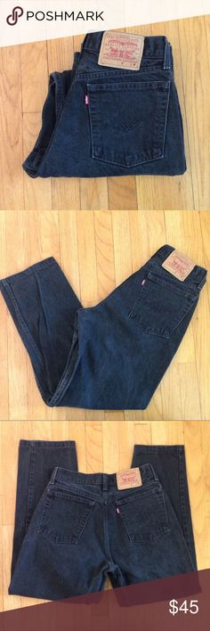 7f1e3c6dfde9fc 1990s black LEVIS high waisted mom jeans Vintage LEVIS are a hot item!  These black