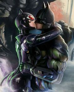 Inspired by the Hush comic panel of batman and catwoman smooching. My cyber futuristic take on batman and catwoman. The Bat and the Cat Batgirl, Batman Und Catwoman, Batman Y Superman, Batman Arkham, Batman Robin, Catwoman Cosplay, Cosplay Gatúbela, Batman Painting, Batman Artwork