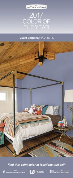 """2017 Paint Color of the Year, Violet Verbena!  Violet Verbena is a gray-purple hue that idealizes the popular bohemian, """"gypset"""" lifestyle. This nuanced update on a classic shade adds depth, luxury & pampering to every space, making it the perfect backdrop for consumers looking to blend the masculine, the feminine, the mystic & the modern."""