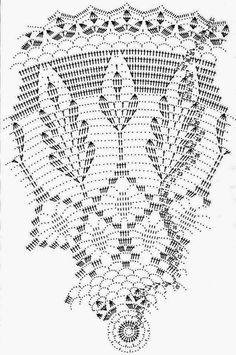 Home Decor Crochet Patterns Part 98 - Beautiful Crochet Patterns and Knitting Patterns Crochet Tablecloth Pattern, Free Crochet Doily Patterns, Crochet Doily Diagram, Crochet Motifs, Crochet Chart, Thread Crochet, Knitting Patterns, Filet Crochet, Mandala Au Crochet