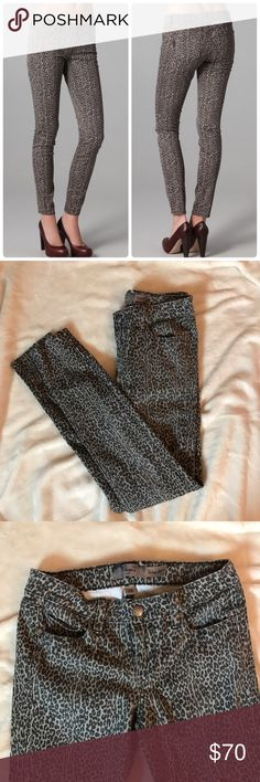 Paige Verdugo Skinny Leggings in gray leopard In like new condition. These are great quality jeans! 20% off all bundles 😊 Paige Jeans Jeans Skinny