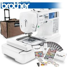 Computerized Sewing Embroidery Machine w/ USB Port - Brother LB-6800PRW Project…